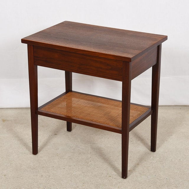 MCM Walnut Gentleman's Chest / Dresser With Graduated Drawers For Sale - Image 11 of 12