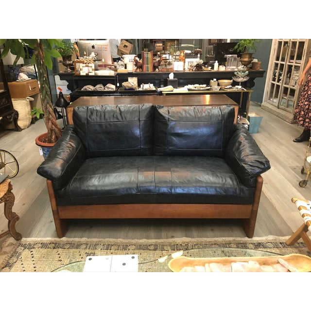 Vintage Mikael Laursen Danish Modern Leather Loveseat For Sale - Image 12 of 12