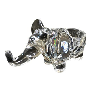 Art Vannes Crystal Elephant Dish For Sale