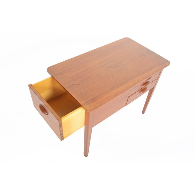 Danish Modern Teak Sewing Box With Basket For Sale - Image 5 of 10