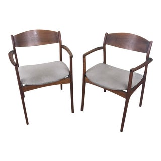 Mid-Century Danish Wood Side Chairs- a Pair For Sale