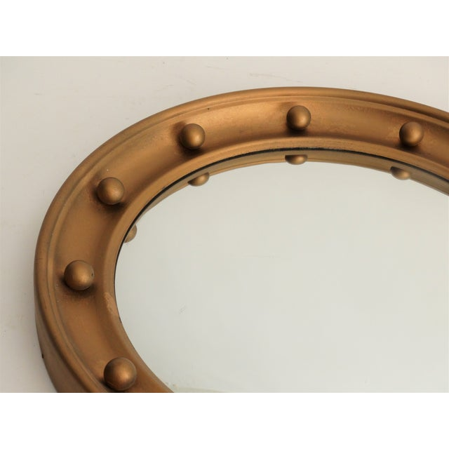 English Convex Round Bullseye Mirror For Sale - Image 4 of 7