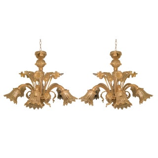 Vintage Murano Chandelier - a Pair For Sale