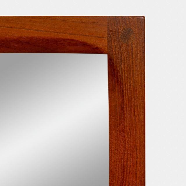 Mid-Century Modern Danish Modern Teak Mirror by Aksel Kjersgaard With Intricate Joinery For Sale - Image 3 of 4
