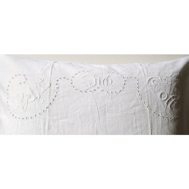 Cottage European German Blessing Pillow Sham For Sale - Image 3 of 5