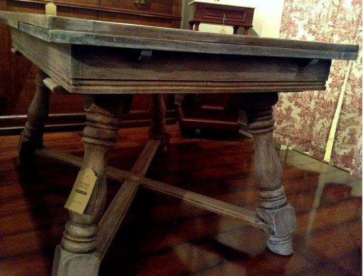 Vintage Limed French Country Dining Table With Leaves. This French Oak Table  Has 2 Leaves