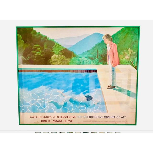 "1980s Original Exhibit Poster ""David Hockney: A Retrospective"" Metropolitan Museum of Art 1988 For Sale - Image 5 of 11"
