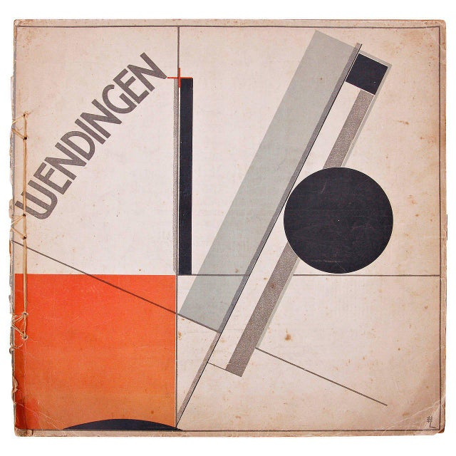 Wendingen, Issue 11, Cover by El Lissitzky, 1921 - Image 11 of 11