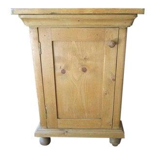 Vintage European Pine Bedside Cabinet