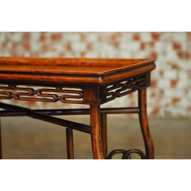Asian Chinese Qing Rosewood Folding Tray Table For Sale - Image 3 of 10