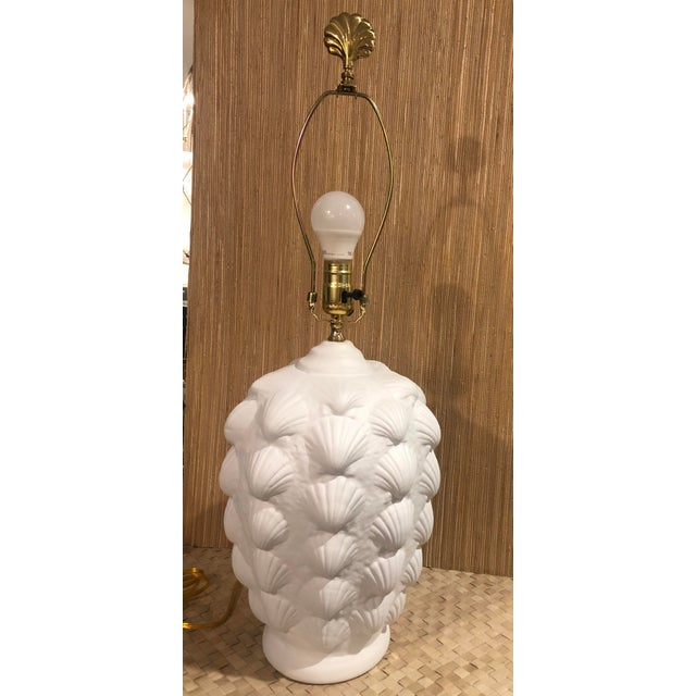 Vintage Clam Shell Plaster Lamp For Sale In West Palm - Image 6 of 6