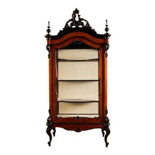 19th Century Victorian Baroque Display Cabinet/Vitrine For Sale