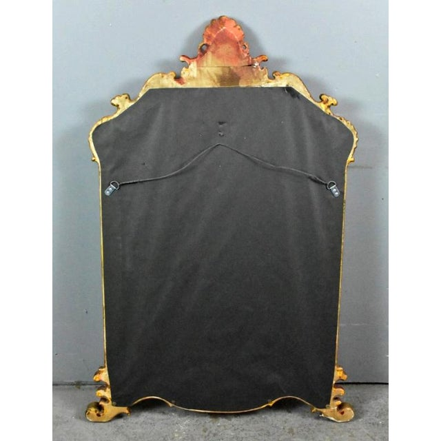 1950s Vintage Chinoiserie Red Laquered Mirror For Sale - Image 10 of 11