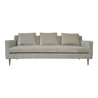 Dunbar Sofa by Edward Wormley on Brass Legs For Sale
