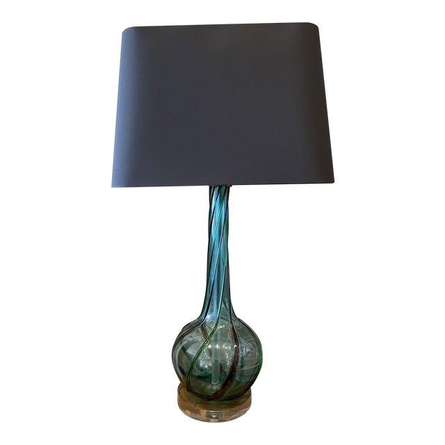 MCM Tricolor Twist Murano Lamp For Sale