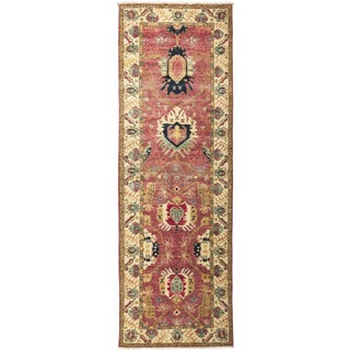 """Ansan, Eclectic Area Rug - 3' 3"""" X 9' 10"""""""