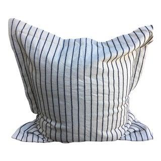 Large Navy Blue & White Striped Shams