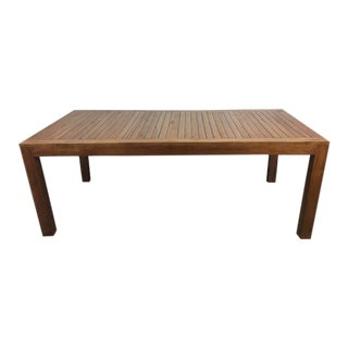 Rectangular Teak Dining Table For Sale
