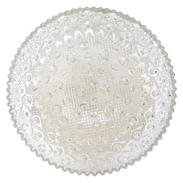 Extra large bubble glass light fixture glass fully covering the rim. In excellent condition and rewired for US use. It has...