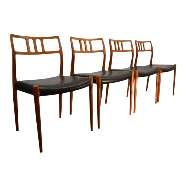 Set of Four Møller Dining Chairs For Sale