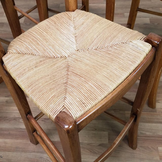 Traditional Italian Rattan and Wicker Barstools - Set of 4 For Sale - Image 3 of 13