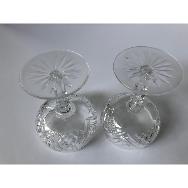 2010s Waterford Lismore Essence Champagne Saucers - a Pair For Sale - Image 5 of 7