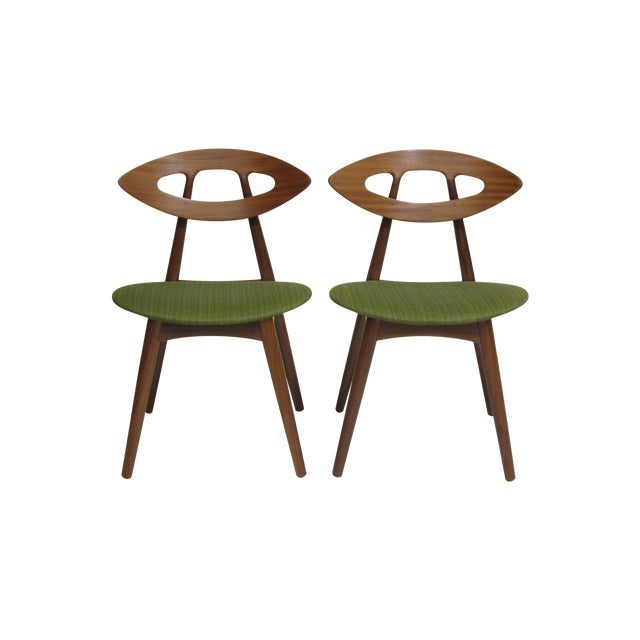 Pair of Ejvind a Johansson Danish Eye Chairs For Sale
