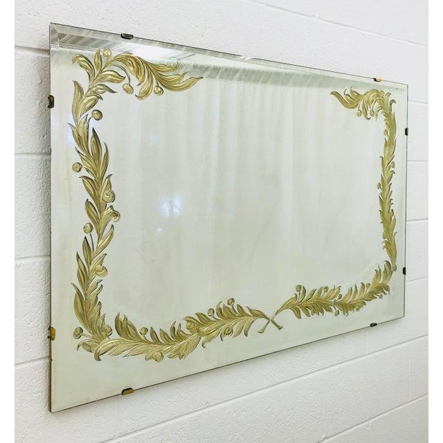 Antique Art Deco Gold Foil Mirror For Sale - Image 13 of 13