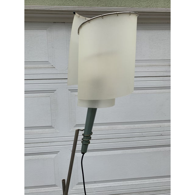 This is a very unique Postmodern Memphis style floor lamp. The detached torch lamp can be hang in different heights and...