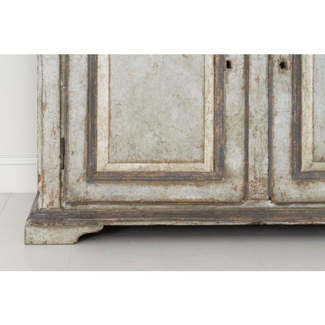 Charcoal 19th Century Italian Abruzzo Two-Door Buffet in Original Paint For Sale - Image 7 of 13