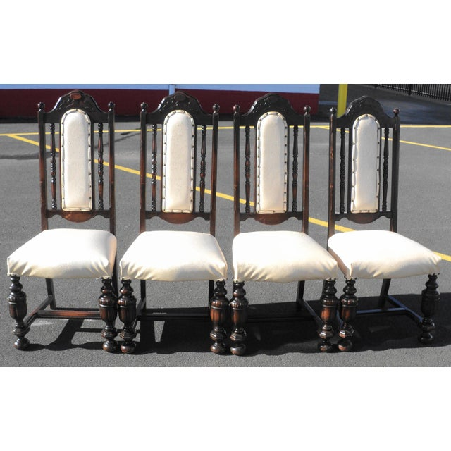 Early 20th Century Antique Gothic Revival Chairs- Set of 4 For Sale - Image 10 of 10