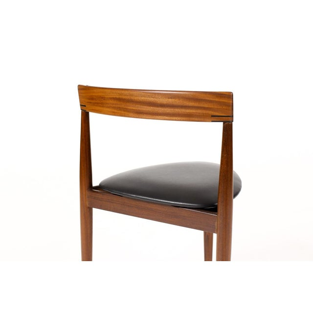 Hans Olsen for Frem Rojle Danish Modern / Mid Century African Teak Dining Chairs - Set of 4 For Sale - Image 9 of 11