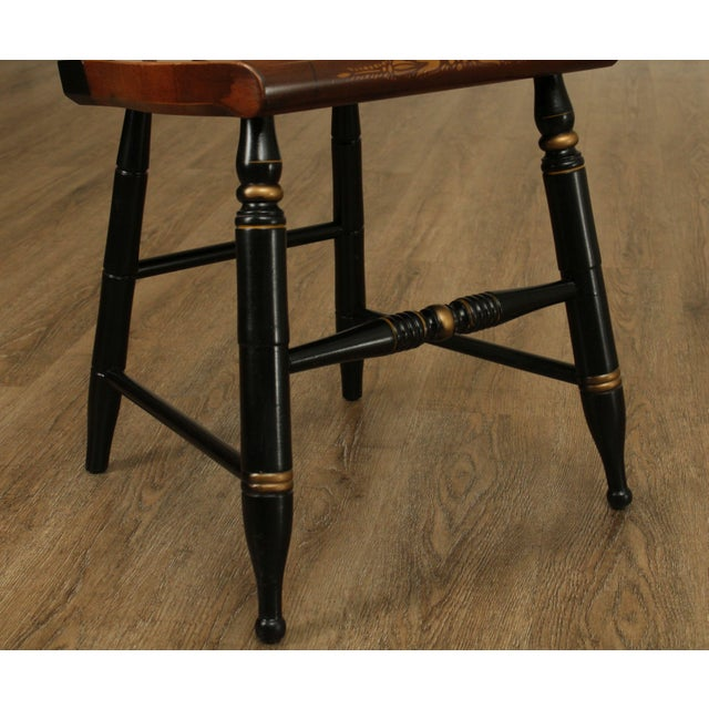 Wood Hitchcock Eagle Painted Black & Maple Side Chair For Sale - Image 7 of 13