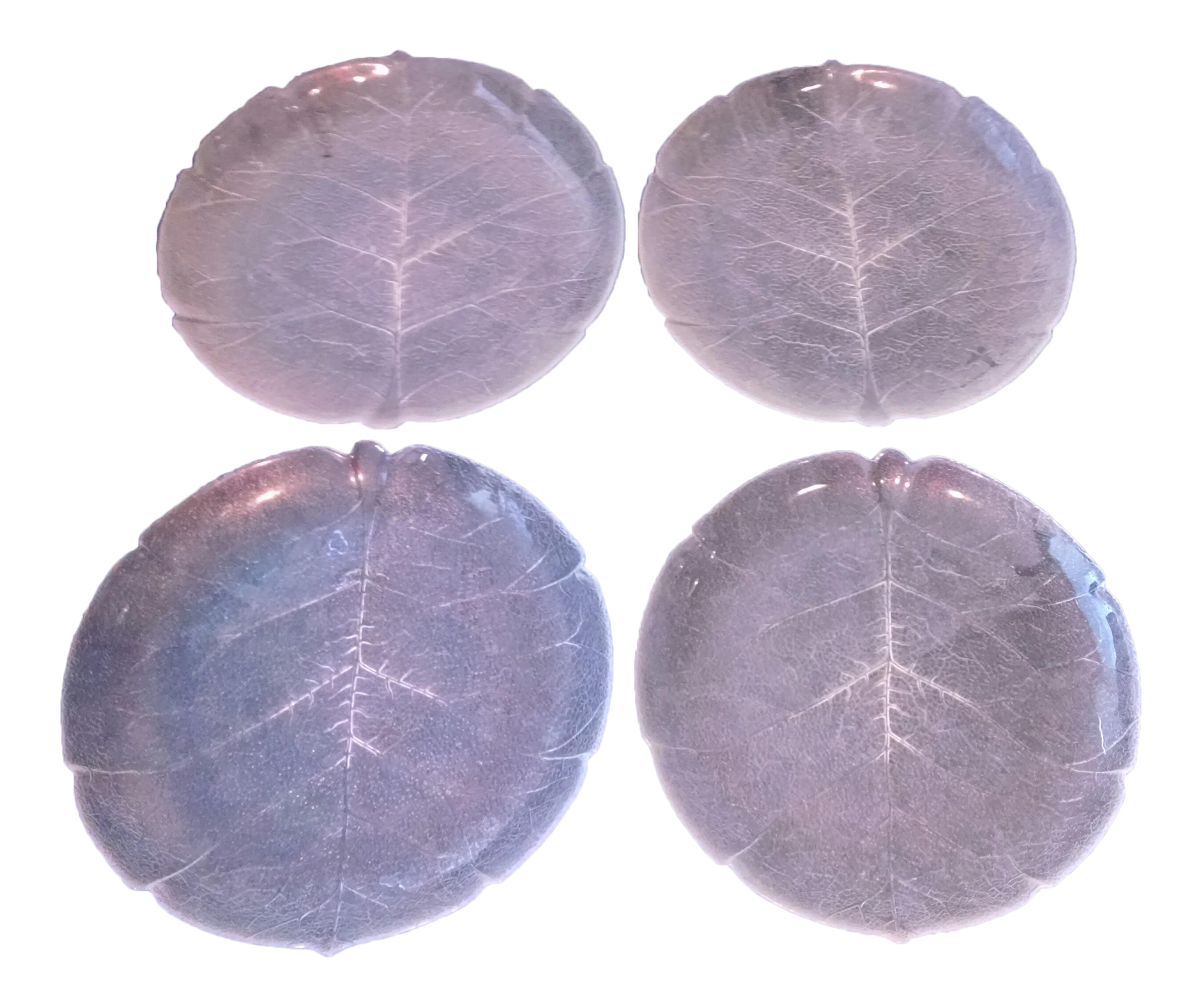 Arcoroc Aspen Leaf Clear Glass 11-Inch Dinner Plates - Set of 4  sc 1 st  Chairish : arcoroc aspen dinnerware - pezcame.com