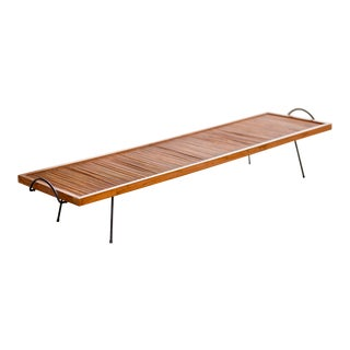 Mid-Century Modern Slat Dowel Laverne Coffee Table by Katavolos For Sale