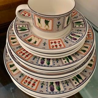 1990's Mikasa Intaglio Rare 'Country Gallery' 20 Piece Stoneware Dish Set Preview