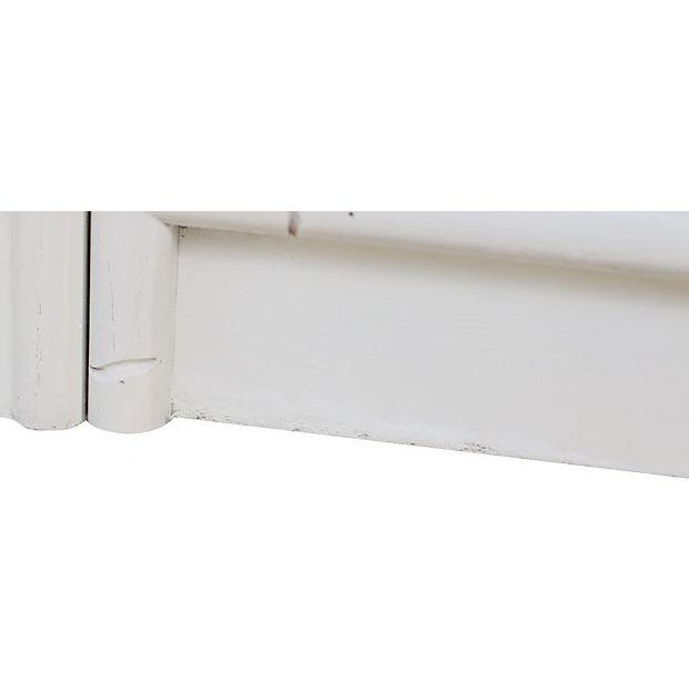 Faux-Bamboo White-Painted Cabinet - Image 7 of 7