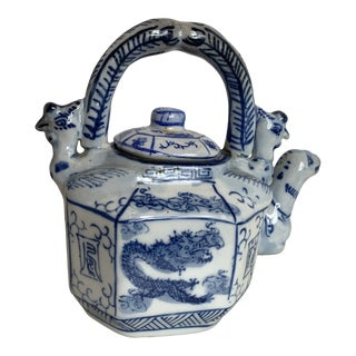 Chinese Blue and White Teapot For Sale