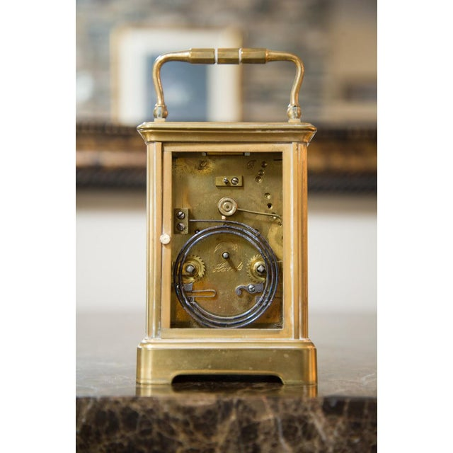 Renard Roitel French Brass Carriage Clock For Sale - Image 4 of 7