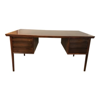 Mid-Century Modern Danish Rosewood Desk Writing Table For Sale
