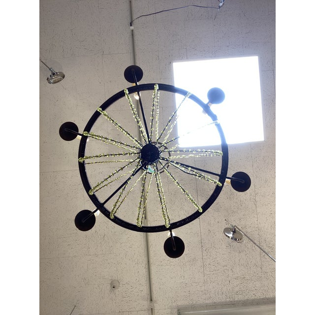 Mid 20th Century 1940's French Six Light Chandelier For Sale - Image 11 of 13