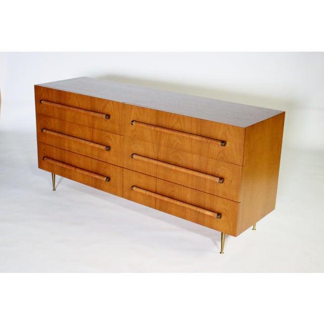 t.h. Robsjohn Gibbings Six-Drawer Dresser for Widdicomb For Sale In Chicago - Image 6 of 9