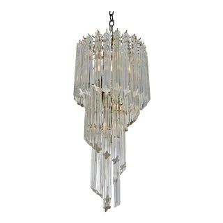 Camer Spiral Chandelier, Italy, 1970s For Sale
