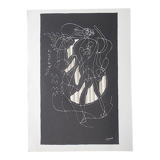 Vintage Mid Century Ltd. Ed. Lithograph-Georges Braque-For Derriere Le Miroir-Folio-1951 For Sale