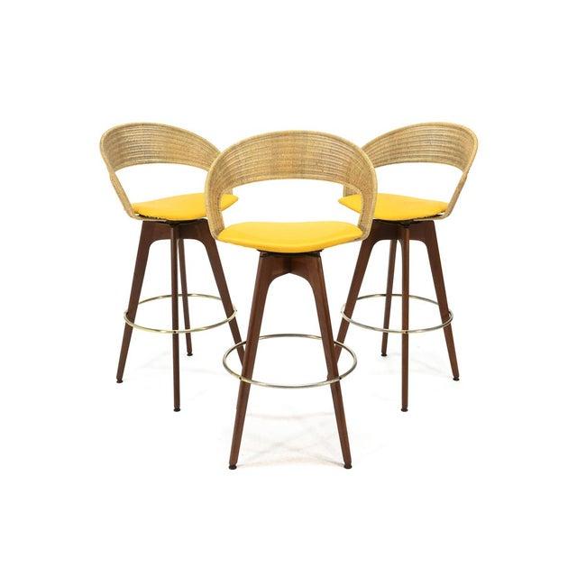 Chet Beardsley Swivel Bar Stools - Set of 3 - Image 2 of 5