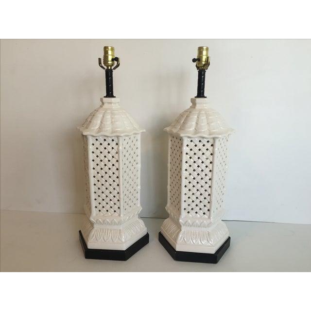Nardini Studios Pagoda Lamps - Pair - Image 2 of 6