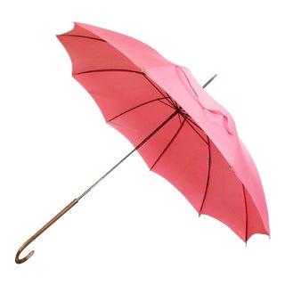 1940's/50's Pink Polan Katz Umbrella For Sale