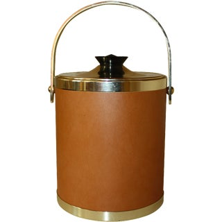 Kromex Gold and Tan Ice Bucket