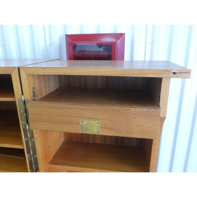 Brown 1970's Danish Modern Teak Secretary Desk For Sale - Image 8 of 11