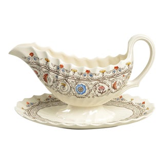 Spode/Copeland Florence Gravy Boat & Underplate For Sale